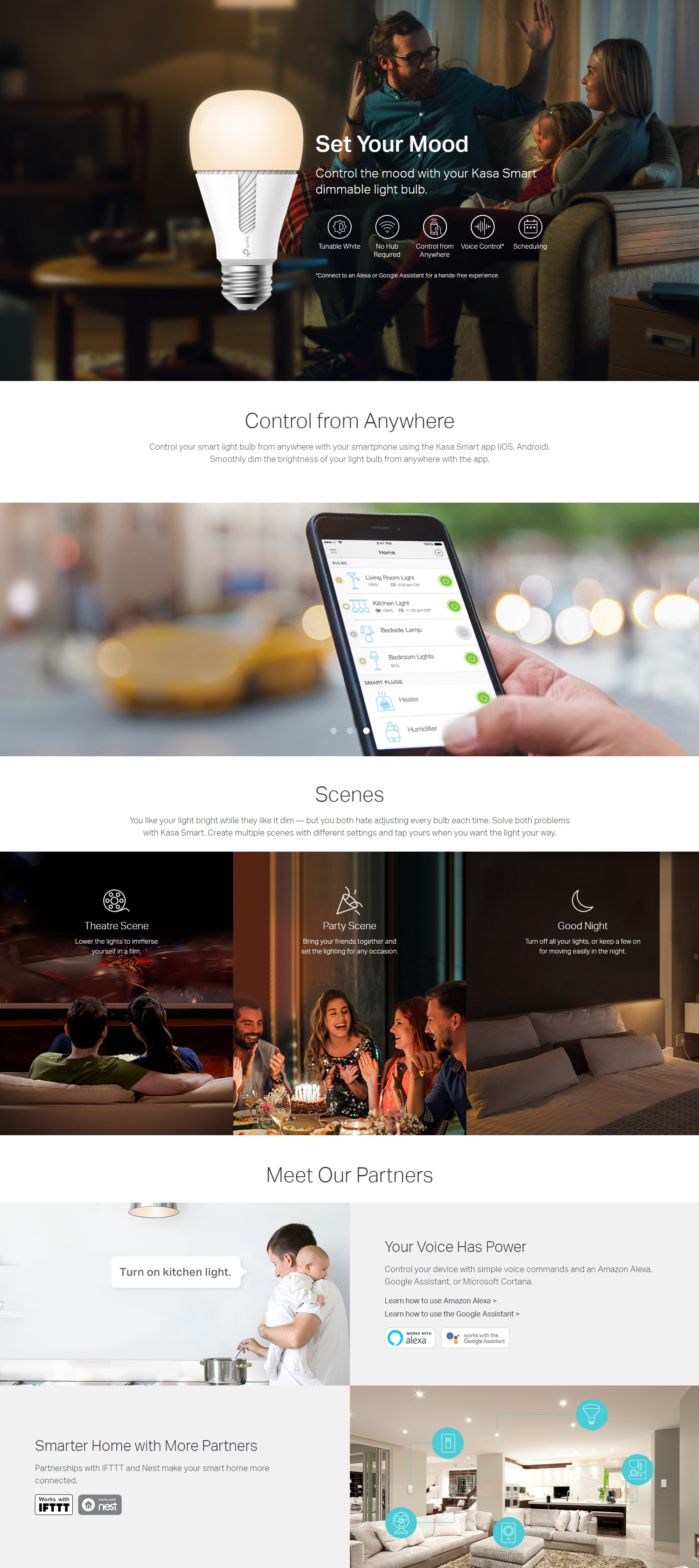 A large marketing image providing additional information about the product TP-LINK KL110B Smart Wi-Fi LED Bulb - Additional alt info not provided