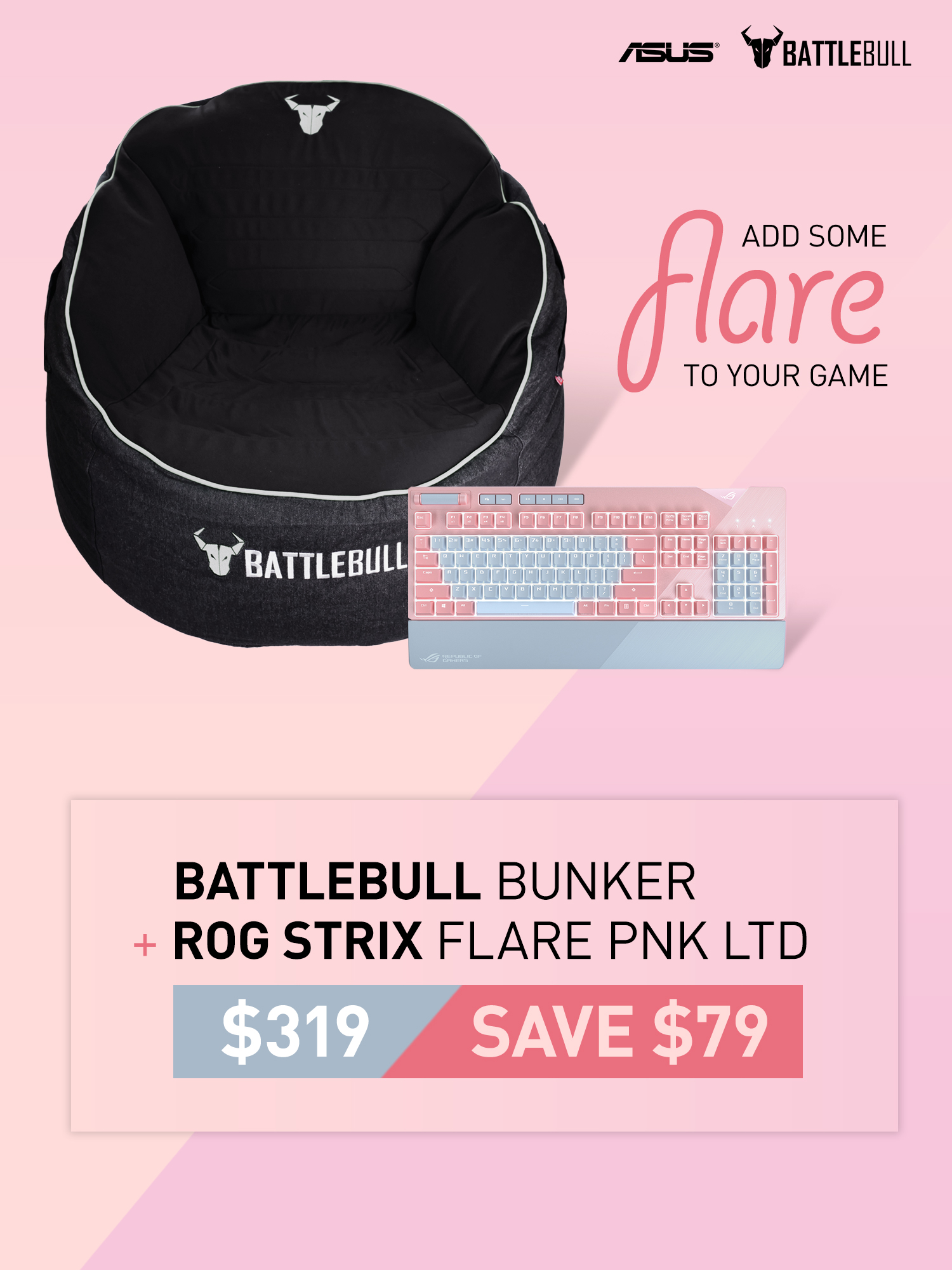 A large marketing image providing additional information about the product ASUS Bunker Flare Bundle Promotion - Additional alt info not provided