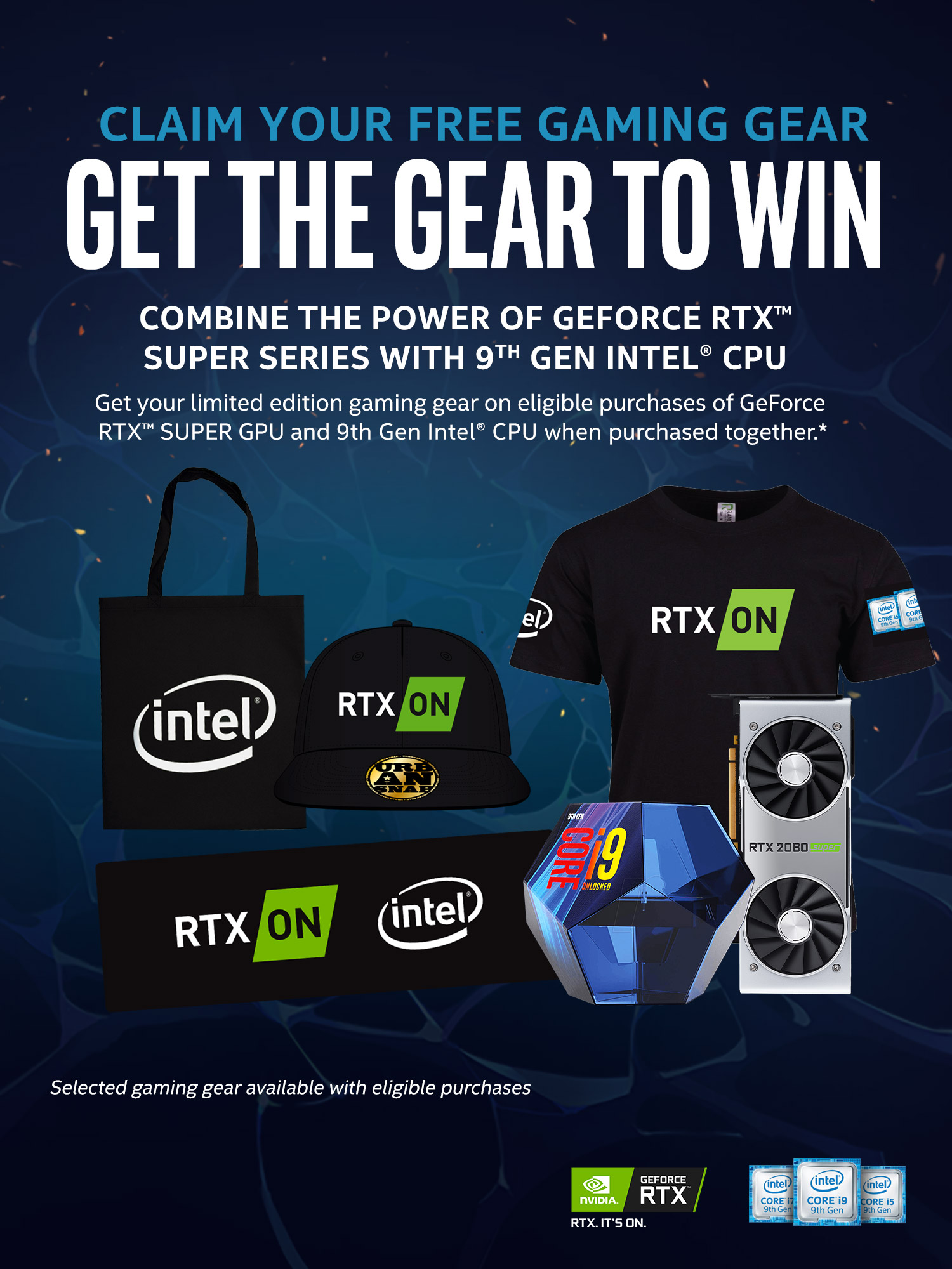 A large marketing image providing additional information about the product Intel i5 & Nvidia RTX 2060 Super Merchandise Promotion - Additional alt info not provided