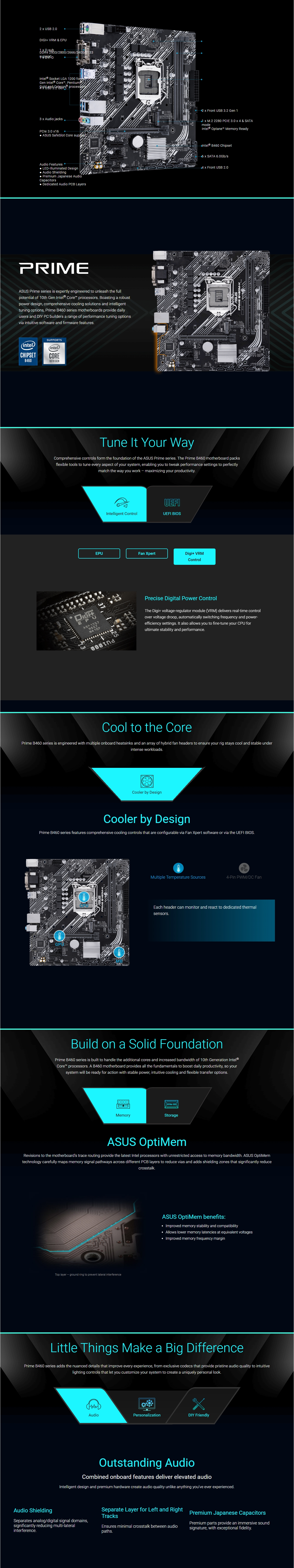 A large marketing image providing additional information about the product ASUS PRIME B460M-K LGA1200 mATX Desktop Motherboard - Additional alt info not provided