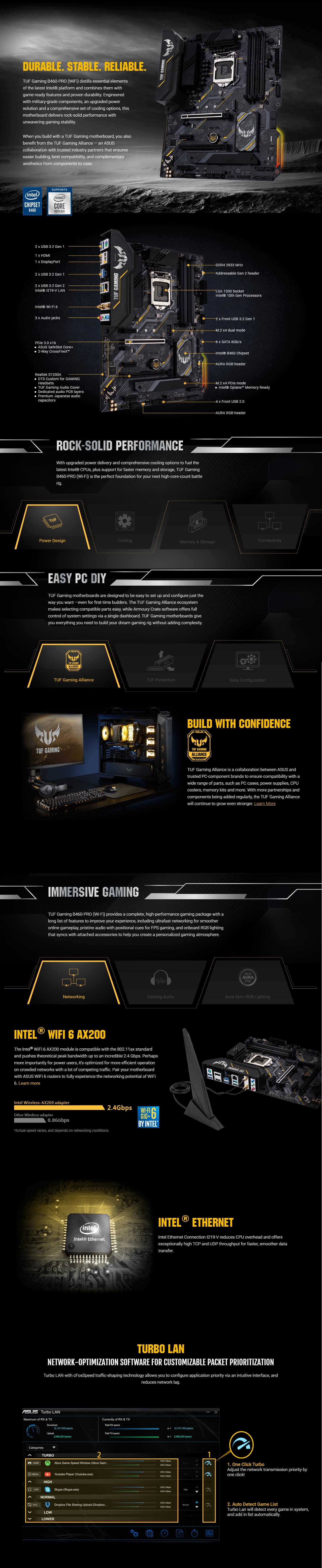 Buy Now | ASUS TUF Gaming B460-Pro WiFi LGA1200 ATX Desktop ...