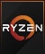Product Feature badge with title: AMD Ryzen