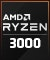 Product Feature badge with title: Ryzen 3000