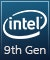 Product Feature badge with title: Intel 9th Gen