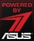 Product Feature badge with title: Powered By ASUS