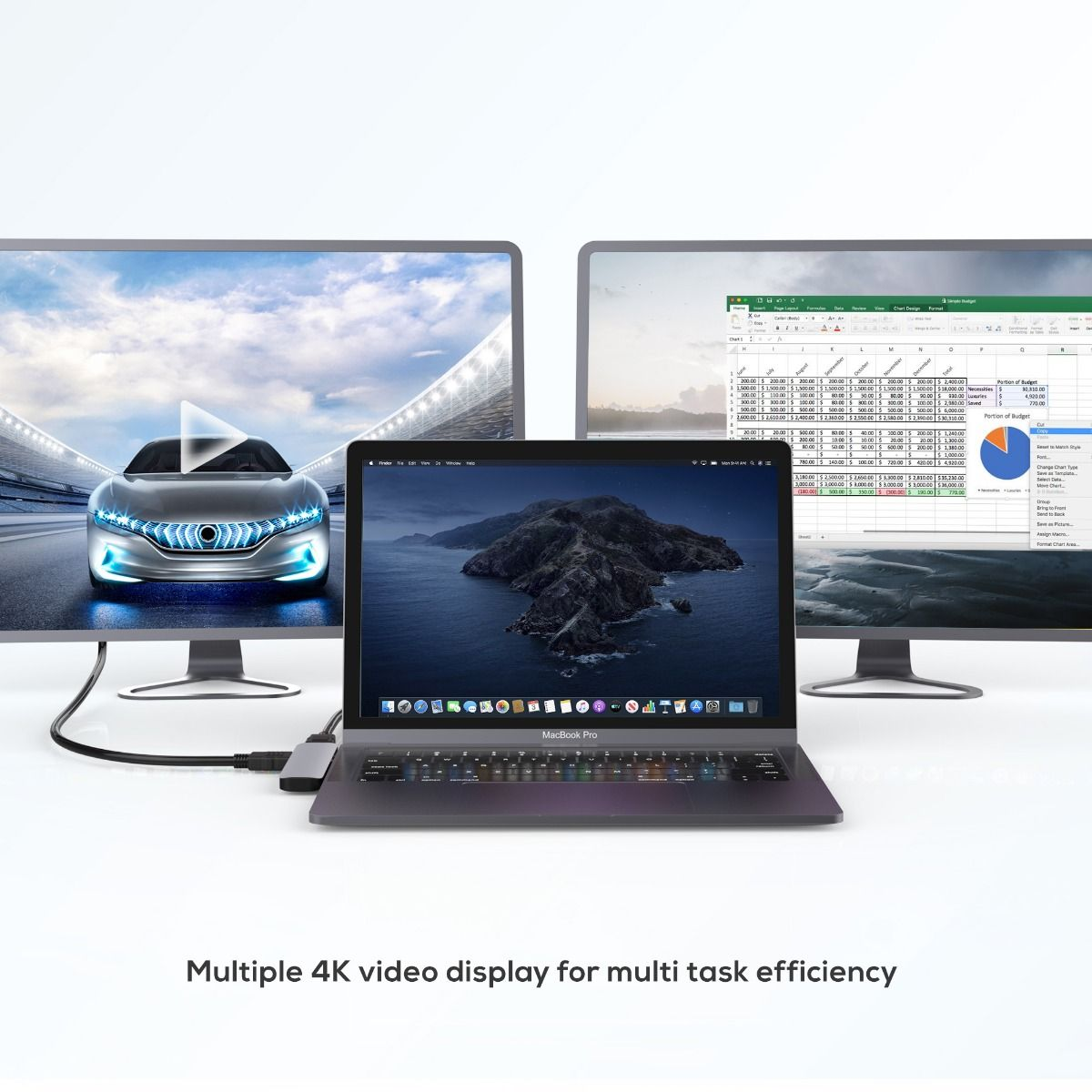 A large marketing image providing additional information about the product mBeat Elite Mini 6-in-1 USB-C Mobile Hub for Macbook Pro - Additional alt info not provided