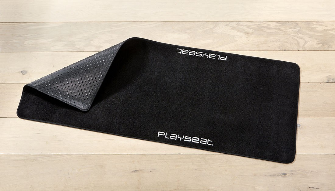 A large marketing image providing additional information about the product Playseat Floor Mat For Simulator - Additional alt info not provided