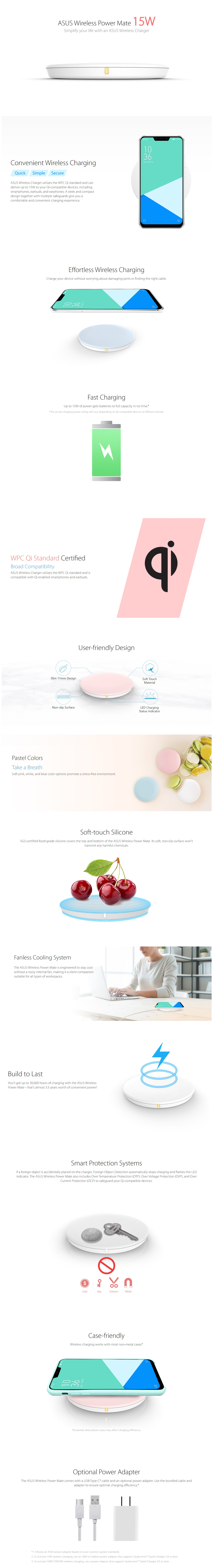 A large marketing image providing additional information about the product ASUS Wireless Power Mate White - Additional alt info not provided