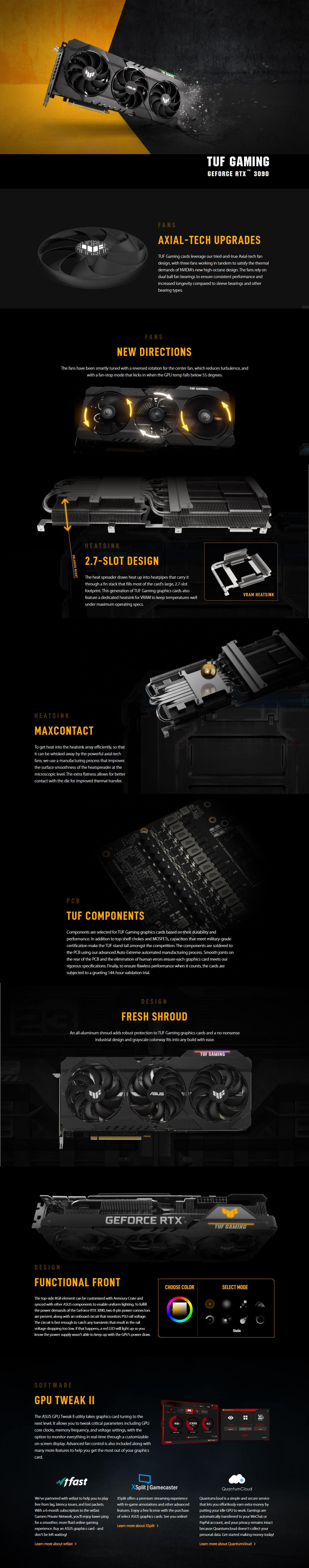 A large marketing image providing additional information about the product ASUS GeForce RTX 3090 TUF Gaming OC 24GB GDDR6X - Additional alt info not provided