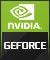 Product Feature badge with title: Nvidia GeForce