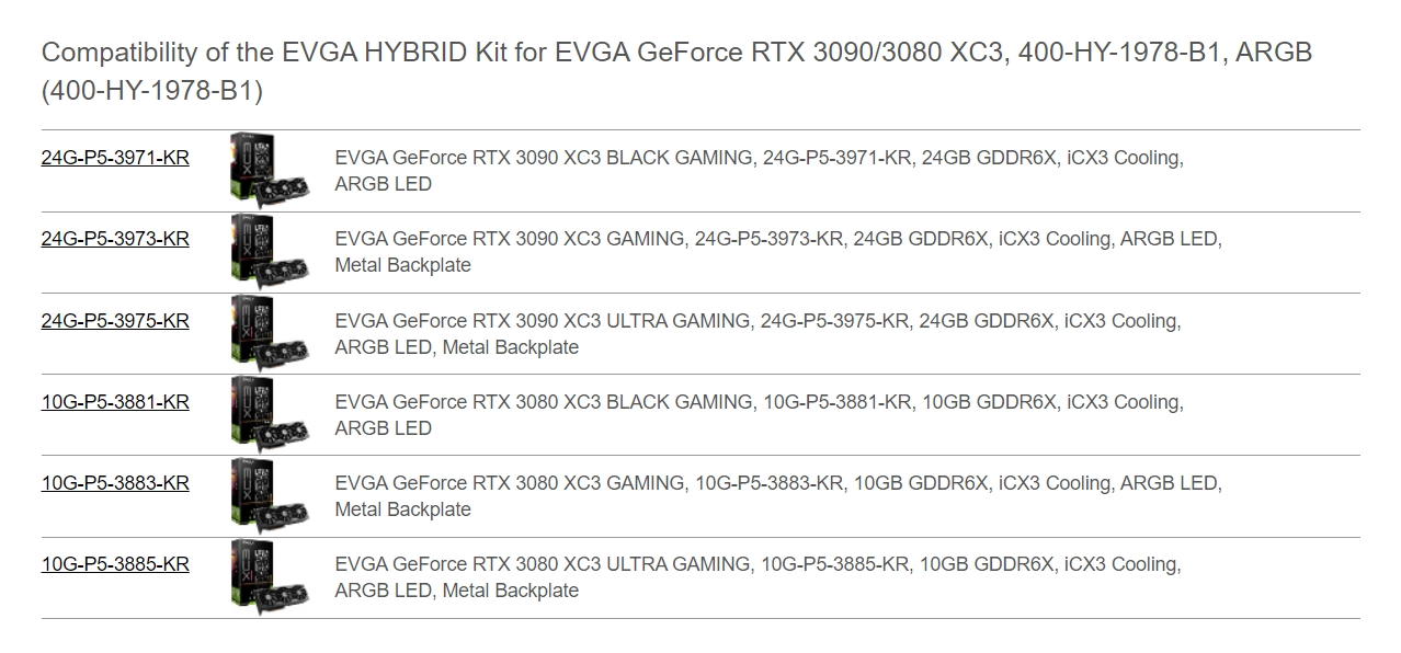 A large marketing image providing additional information about the product eVGA XC3 Hybrid Cooling Upgrade Kit - Additional alt info not provided
