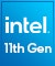 Product Feature badge with title: Intel 11th Gen