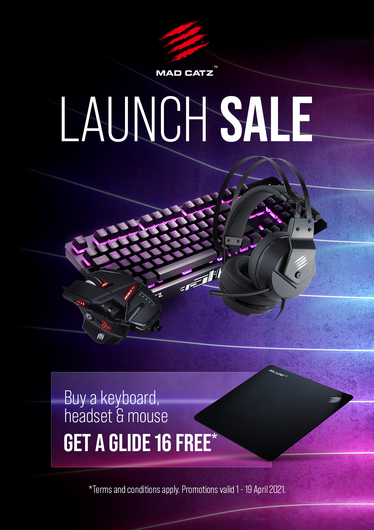 A large marketing image providing additional information about the product Mad Catz Bundle - Additional alt info not provided