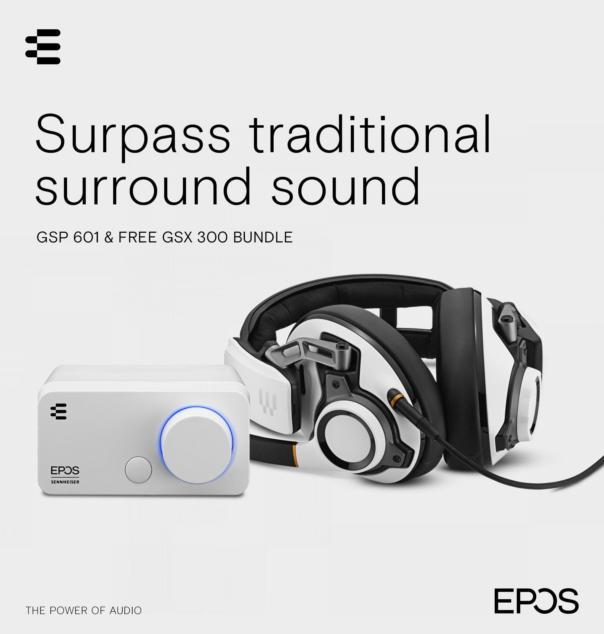 A large marketing image providing additional information about the product EPOS Upgrade Your Audio Bundle - Additional alt info not provided
