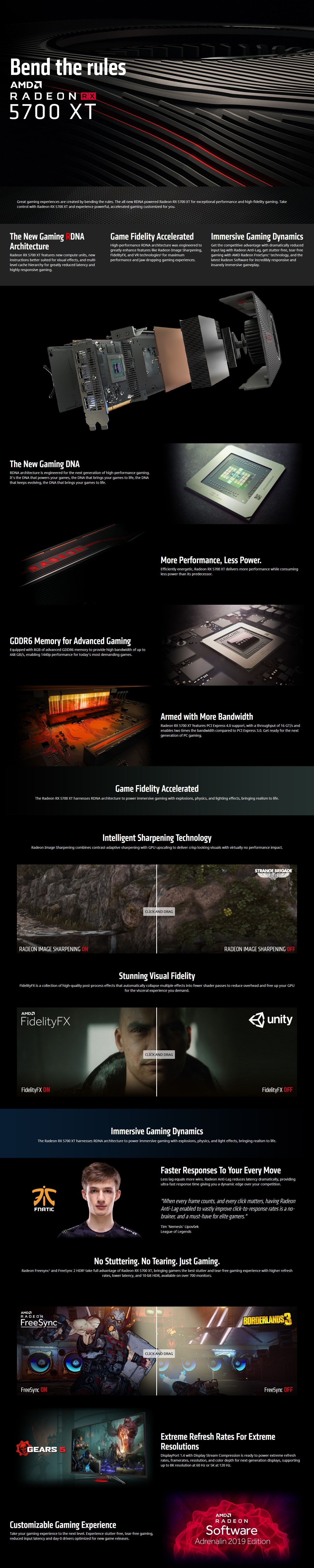 A large marketing image providing additional information about the product HIS Radeon RX 5700 XT 8GB GDDR6 - Additional alt info not provided