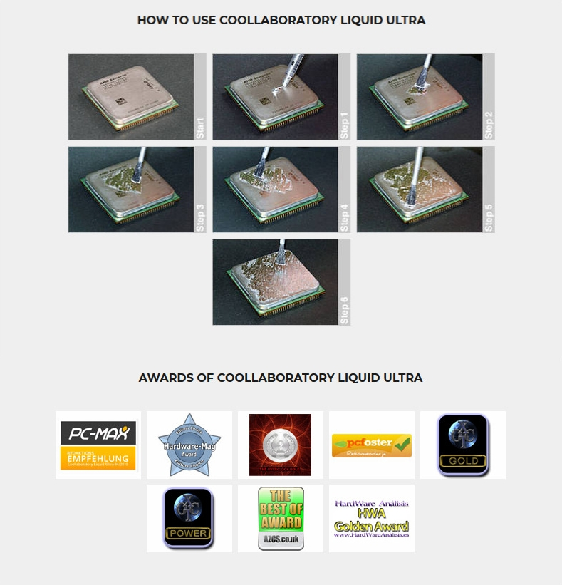 A large marketing image providing additional information about the product Coollaboratory Liquid Ultra And Cleaner - Additional alt info not provided