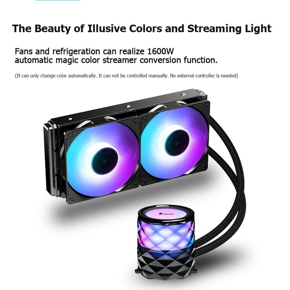 A large marketing image providing additional information about the product Jonsbo TW3 240mm RGB LED AIO CPU Liquid Cooler - Additional alt info not provided