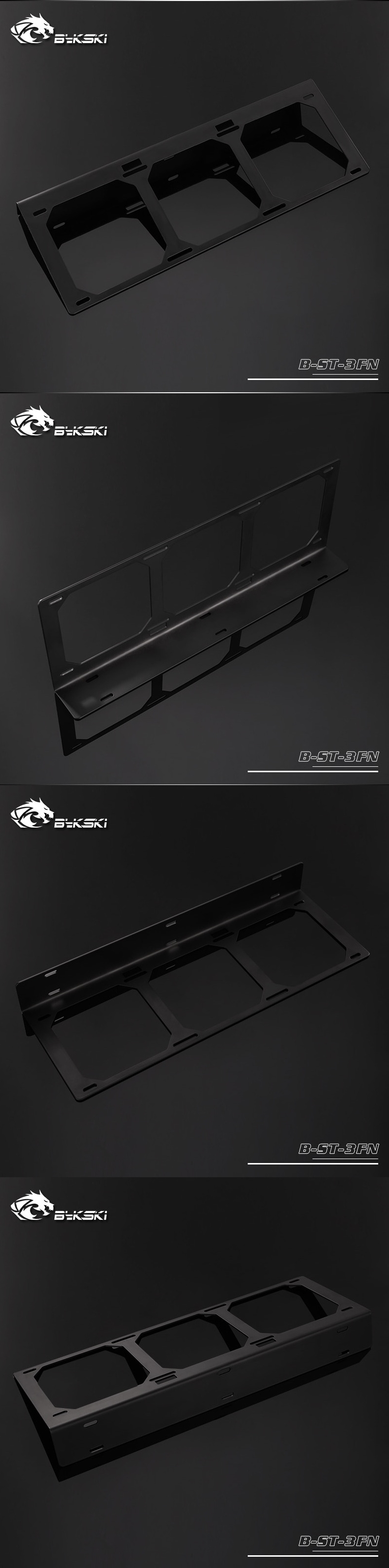 A large marketing image providing additional information about the product Bykski Thermaltake P3 Case Water Board / Radiator Mounting Bracket - Additional alt info not provided