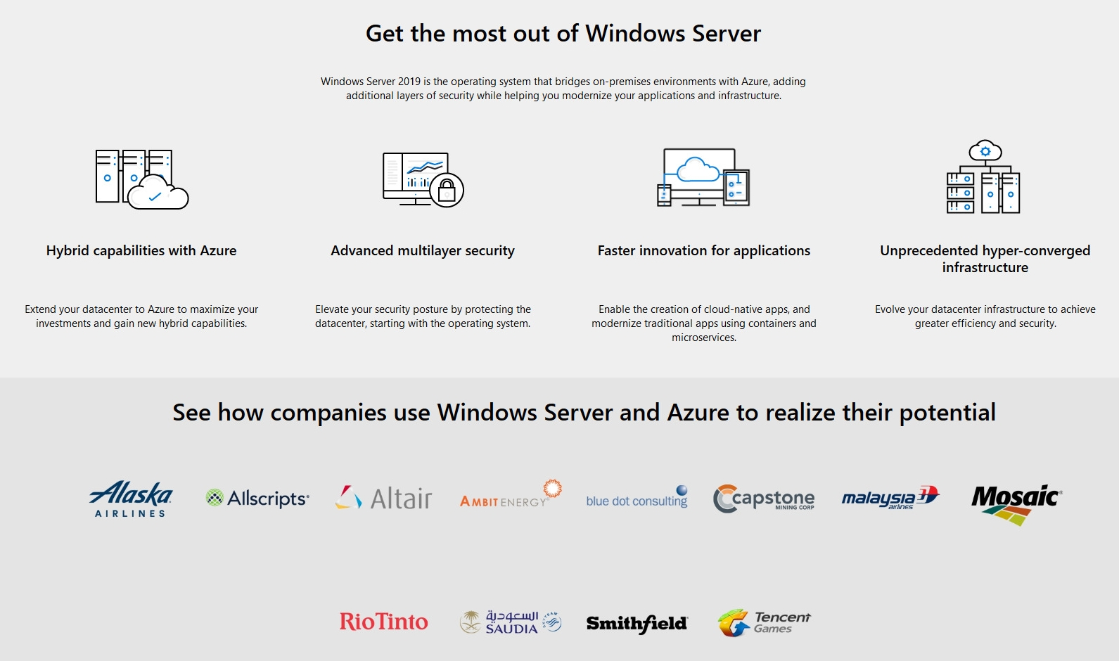A large marketing image providing additional information about the product Microsoft Windows Server 2019 Essentials OEM 64-Bit - Additional alt info not provided