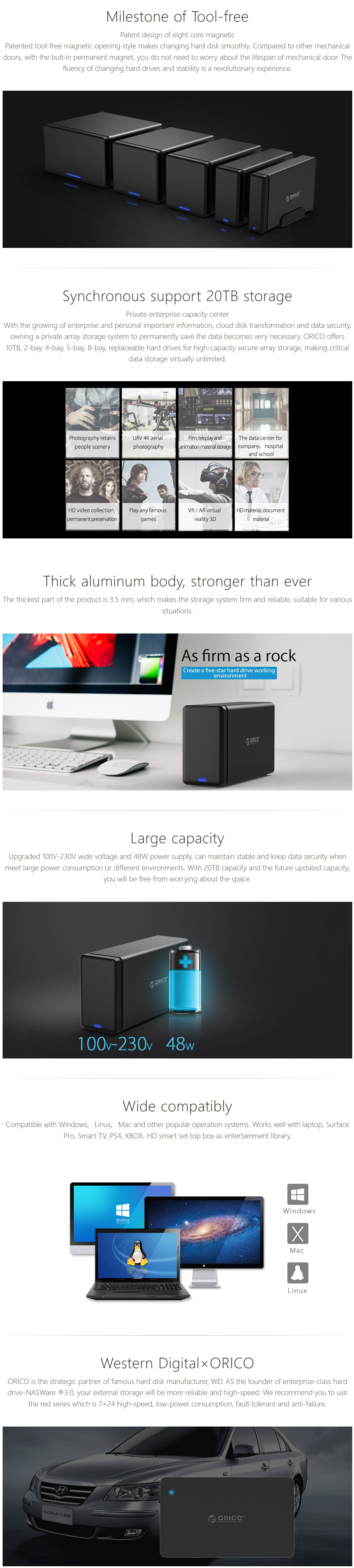 A large marketing image providing additional information about the product ORICO 2 Bay USB3.0 Hard Drive Dock - Additional alt info not provided