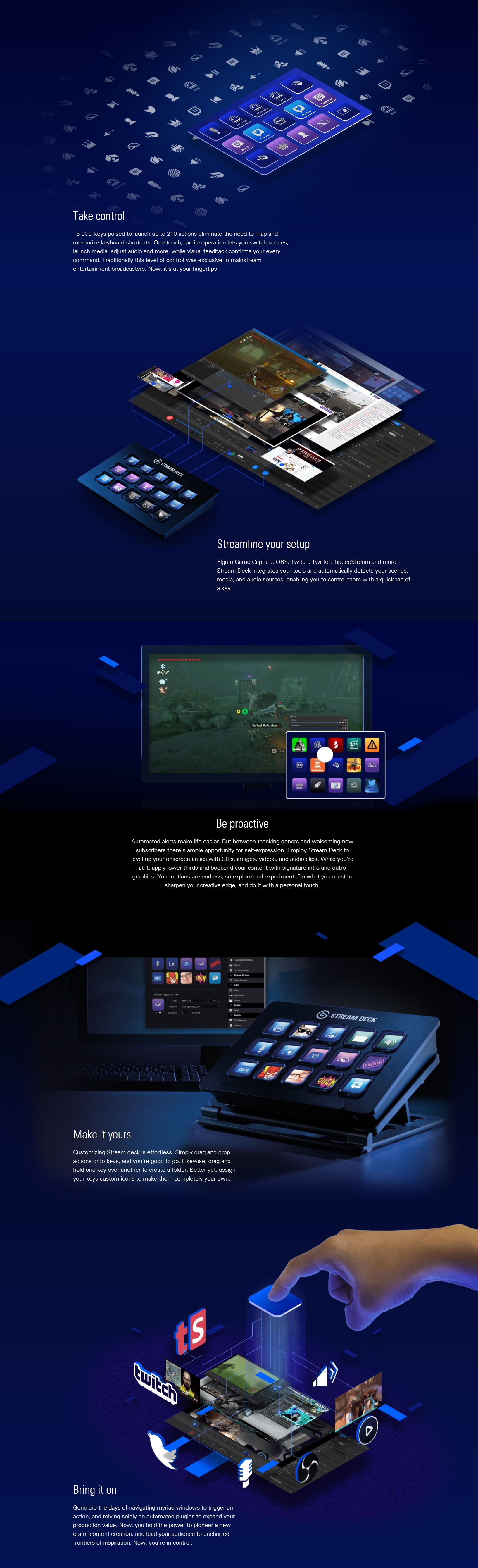 A large marketing image providing additional information about the product Elgato Stream Deck - Additional alt info not provided
