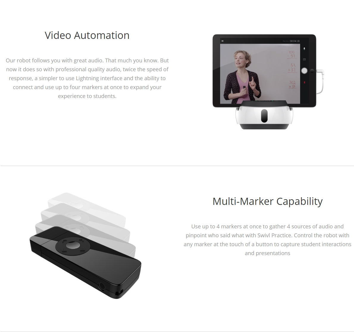A large marketing image providing additional information about the product Swivl C Series Robot C3 - Additional alt info not provided