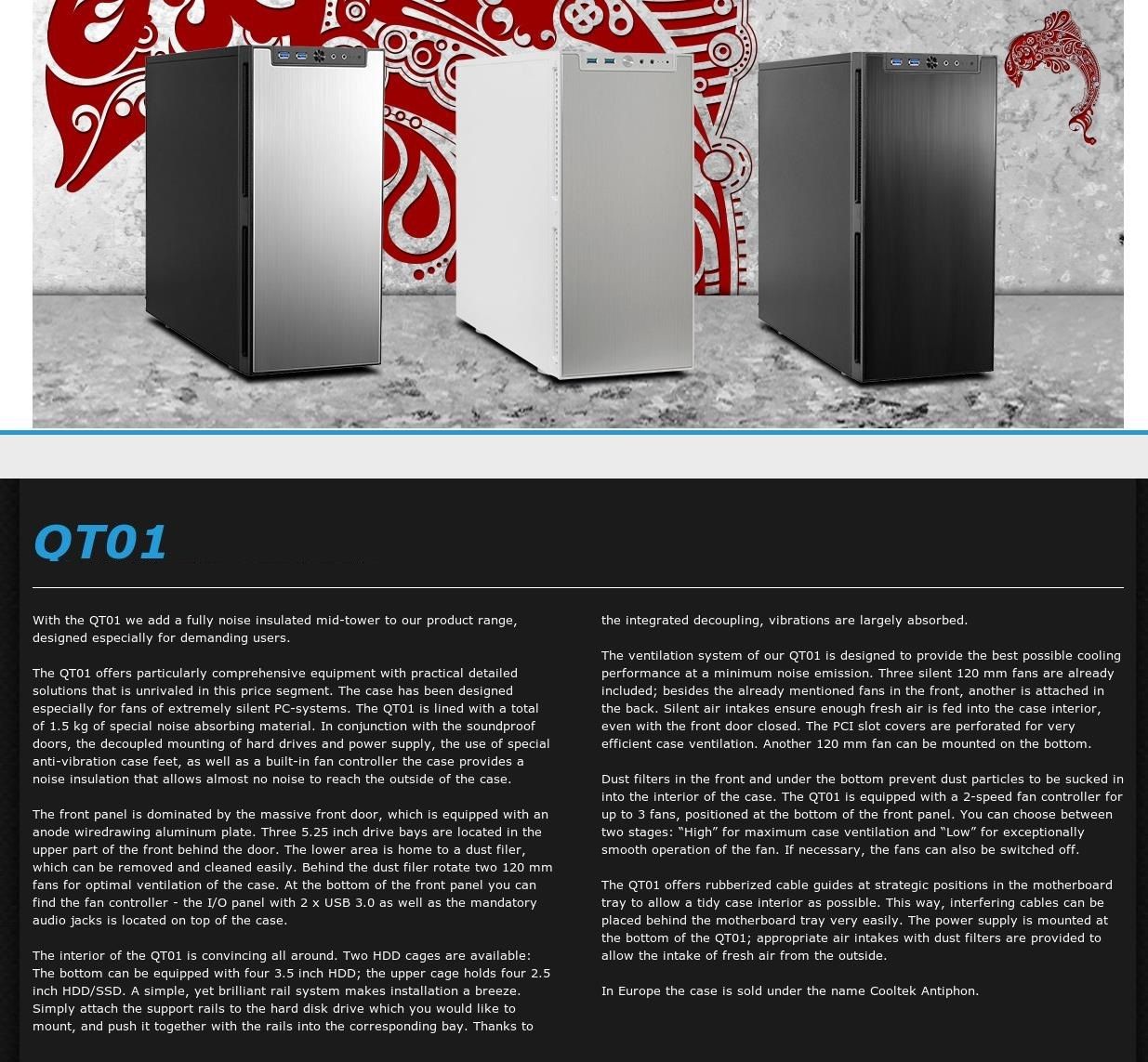 A large marketing image providing additional information about the product Jonsbo Quiet Angel QT01 Black ATX Case - Additional alt info not provided