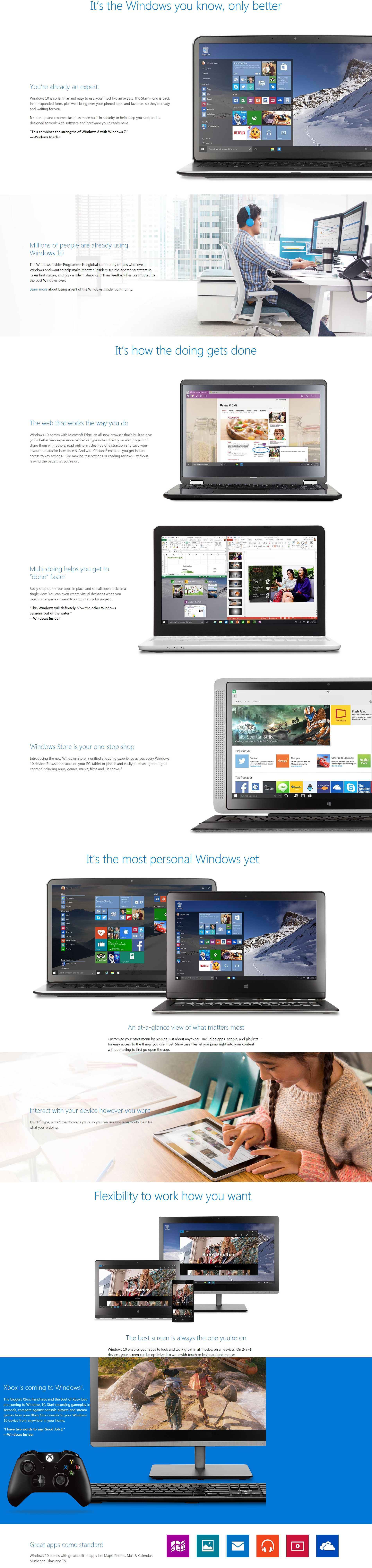 A large marketing image providing additional information about the product Microsoft Windows 10 Home OEM 64-Bit DVD - Additional alt info not provided