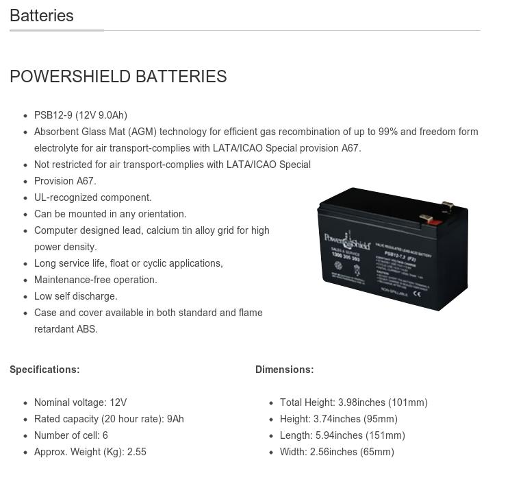 A large marketing image providing additional information about the product Power Shield 12V 9AH Sealed Lead Acid (UPS Grade) Battery - Additional alt info not provided