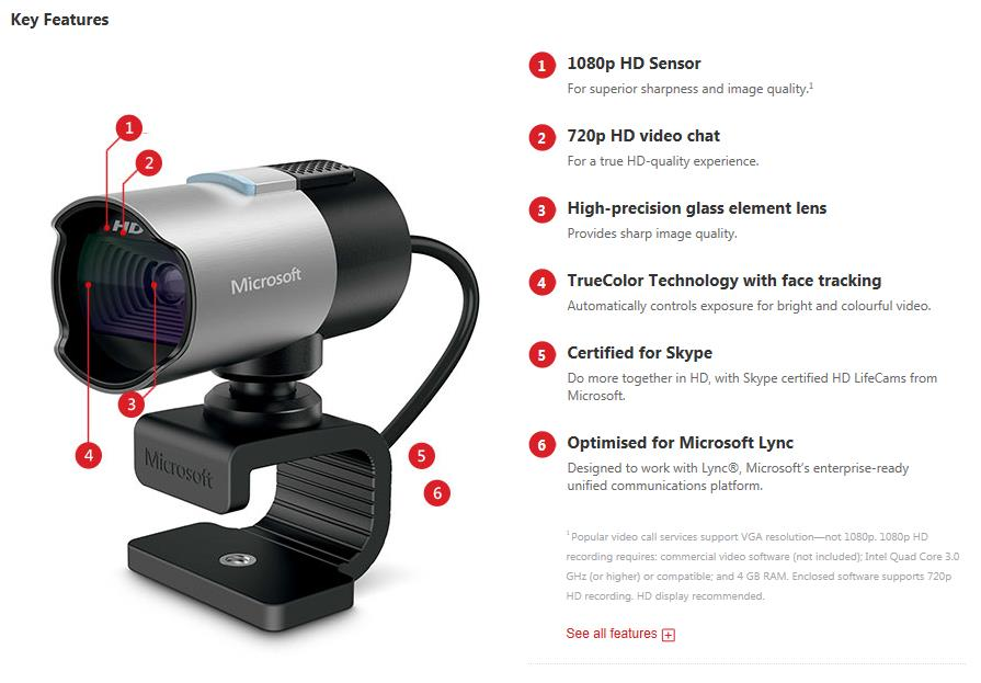 A large marketing image providing additional information about the product Microsoft LifeCam Studio 1080P Webcam - Additional alt info not provided