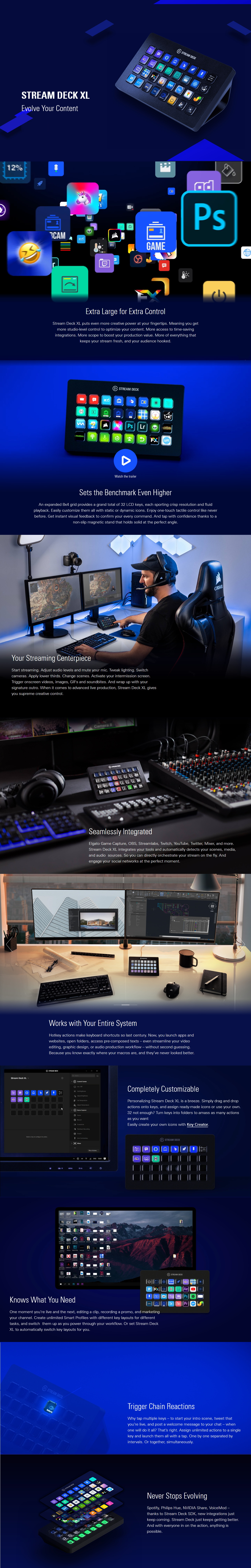 A large marketing image providing additional information about the product Elgato Stream Deck XL - Additional alt info not provided