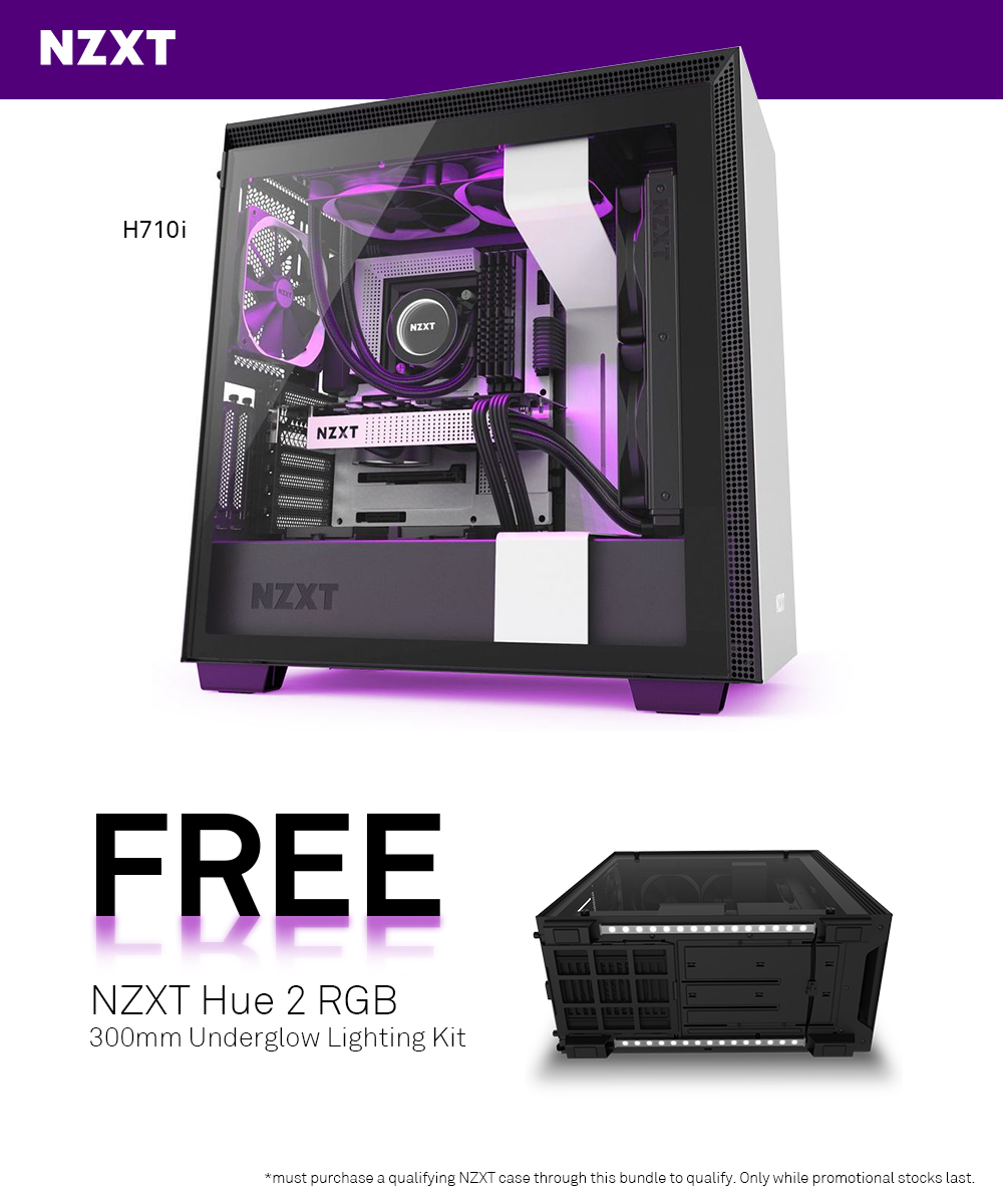 A large marketing image providing additional information about the product NZXT H710i Underglow Bundle - Additional alt info not provided