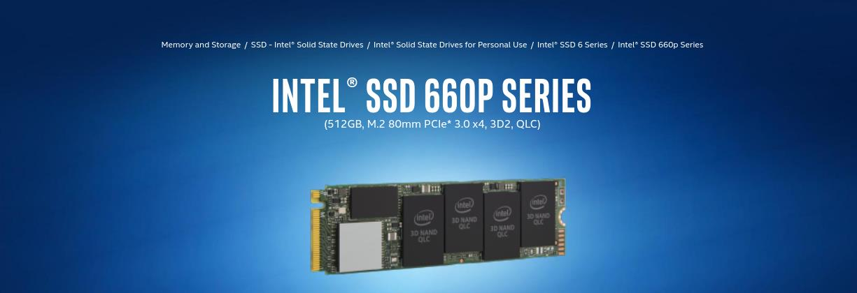 A large marketing image providing additional information about the product Intel 660p Series 512GB QLC NVMe M.2 SSD - Additional alt info not provided