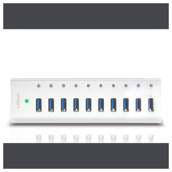 Product image of ALOGIC Plus 10 Port USB 3.0 Powered Hub With Charging - Click for product page of ALOGIC Plus 10 Port USB 3.0 Powered Hub With Charging