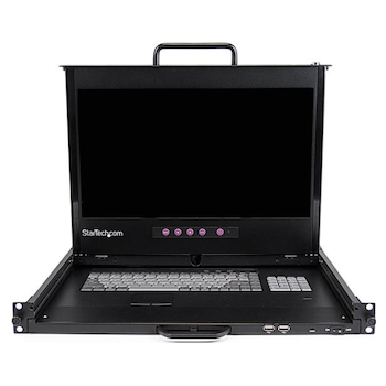 Product image of Startech 1U 17in HD 1920x1080 Dual Rail LCD Rack Console - Click for product page of Startech 1U 17in HD 1920x1080 Dual Rail LCD Rack Console