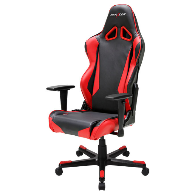 dxracer rm1 series pc gaming chair black red w lumbar. Black Bedroom Furniture Sets. Home Design Ideas