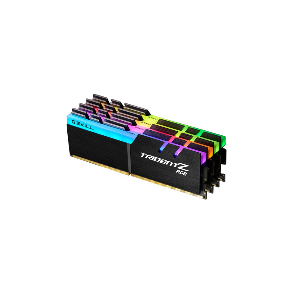A large main feature product image of G.Skill 32GB Kit (4x8GB) DDR4 Trident Z RGB 2400MHz C15