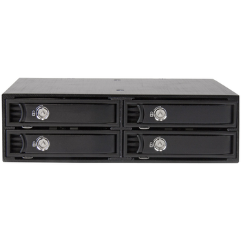 Product image of Startech Install 4 SSDs/HDDs into one 5.25in bay - for 5-15mm drives - Click for product page of Startech Install 4 SSDs/HDDs into one 5.25in bay - for 5-15mm drives