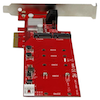 A product image of Startech 2-Slot PCI Express M.2 RAID Card with 2x SATA3 Ports - PCIe