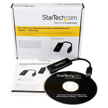 Product image of Startech Slim USB 3.0 to VGA External Video Card - Click for product page of Startech Slim USB 3.0 to VGA External Video Card