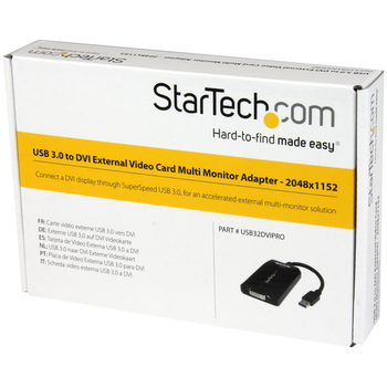 Product image of Startech USB3.0 to DVI / VGA External Video Card - Click for product page of Startech USB3.0 to DVI / VGA External Video Card