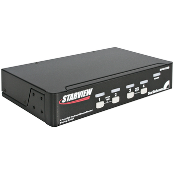 Product image of Startech 4-Port VGA USB KVM Switch with Hub  - Click for product page of Startech 4-Port VGA USB KVM Switch with Hub