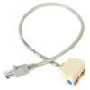 A product image of Startech 2-to-1 RJ45 Splitter Cable Adapter F-M
