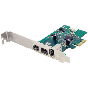 Product image of Startech 3 Port 2b 1a PCI Express FireWire Card - Click for product page of Startech 3 Port 2b 1a PCI Express FireWire Card