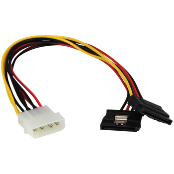 Product image of Startech 12in 4 Pin Molex to Dual Latching SATA Y Splitter - Click for product page of Startech 12in 4 Pin Molex to Dual Latching SATA Y Splitter