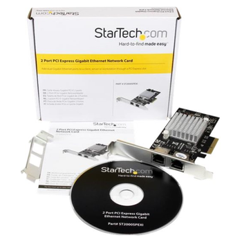 Product image of Startech Dual Port PCIe Gigabit Network Card - Click for product page of Startech Dual Port PCIe Gigabit Network Card