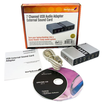 Product image of Startech USB Audio Adapter External Sound Card - Click for product page of Startech USB Audio Adapter External Sound Card
