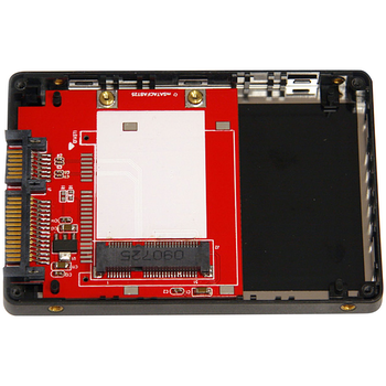 "Product image of Startech 2.5"" SATA to Mini SATA Adapter Enclosure - Click for product page of Startech 2.5"" SATA to Mini SATA Adapter Enclosure"