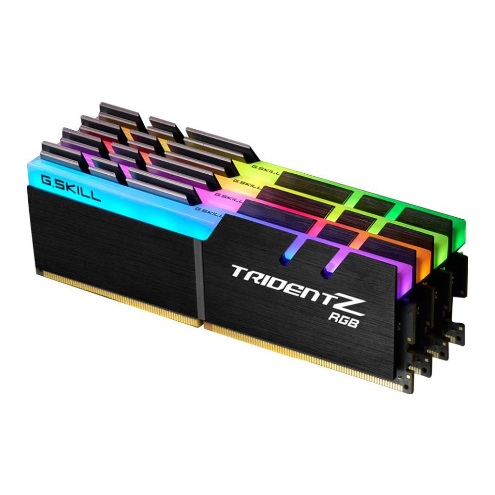 A large main feature product image of G.Skill 32GB Kit (4x8GB) DDR4 Trident Z RGB 3200MHz C16