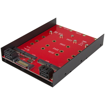 Product image of Startech 4x M.2 to SATA 3.5in Mounting Adapter - Click for product page of Startech 4x M.2 to SATA 3.5in Mounting Adapter